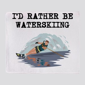 Id Rather Be Waterskiing Throw Blanket